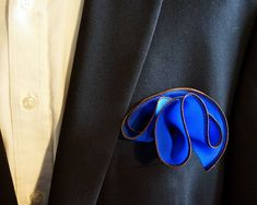 Hankie Pocket Square Handkerchief Dusty Pink Gold /& Blue Floral