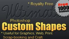 1000+ Photoshop Shapes Bundle