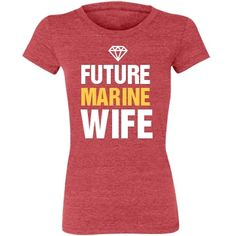 Future Marine Wife Junior Fit Bella Triblend Tee