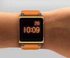 Apple's iPod Nano nixie tube watch face. Serious geek cred. $129