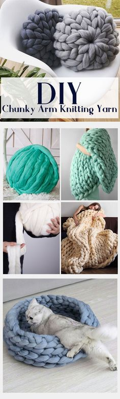 500g/1000g per Ball New Super Chunky Arm Knitting Yarn Blanket Bulky Yarn Merino Imitation Wool Yarn#newchic#DIY#knit