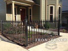 Older homes and iron fence go together like peanut butter and jelly.  Our 3ft tall Signature grade iron fence looks great in front of this restored Victorian home