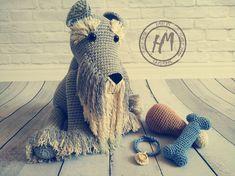 Made to order. Schnauzer, Hand Knitting, Hair Styles, Mini, How To Make, Handmade, Beauty, Amigurumi, Hair Plait Styles