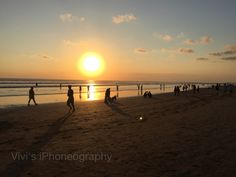 Waiting for sunset at Seminyak Beach, Bali-Indonesia