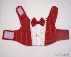DIY Pets Crafts : DIY Formal Red Pinstripe Dress Tuxedo Harness for Pets by mypupstuff