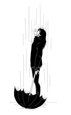 - - - annamachtart Perversions of quiet girls / Erotic Art Print / Melancholy Mood Sad Girl Alone Night Time Reading in swing time Skull Heads by Gerrel Saunders. Bob Marley Kunst, Bob Marley Art, Girl In Rain, Dancing In The Rain, Black And White Drawing, Black And White Illustration, Image Pinterest, Art Sketches, Art Drawings