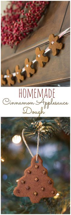 How to make ornaments and a gingerbread man garland with cinnamon and applesauce!