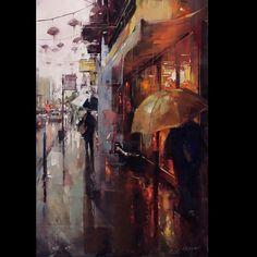 """1,735 Beğenme, 18 Yorum - Instagram'da art share (@paintsagram): """"Art by @lkustusch #oilpainting #cityscape #painting #contemporaryart #artist #art"""""""