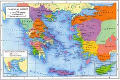 Map of Classical Greece and the Athenian Empire, 450 BC