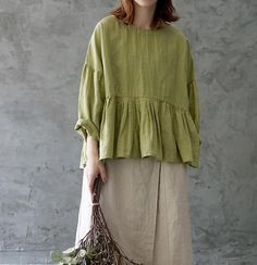 Swans Style is the top online fashion store for women. Modest Outfits, Simple Outfits, Casual Dresses, 50 Fashion, Fashion Dresses, Denim And Lace, Couture Tops, Summer Outfits Women, Linen Dresses