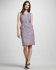 Shoshanna Sleeveless Tweed Dress - Neiman Marcus    Very much like the Vogue 9887!
