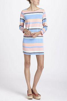 Striped Boatneck Mini Dress  #anthropologie