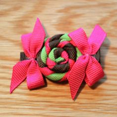 Quality Grosgrain Ribbon Alligator Clip  Colourful by FlowerHatUK