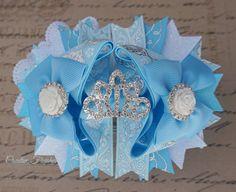 Cinderella costume, Cinderella Outfit, Tiara hair bow, hair bows, princess hair bows, Cinderella Crown, creative finishes