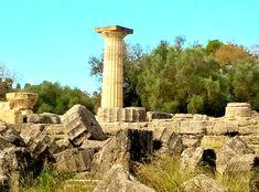 Remnants of Temple of Zeus, Olympia.