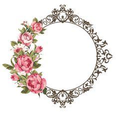 Pin de derm design em resources flower frame, frame e paper Flower Frame Png, Rose Frame, Png Floral, Molduras Vintage, Borders And Frames, Paper Frames, Decoupage Paper, Floral Border, Islamic Art