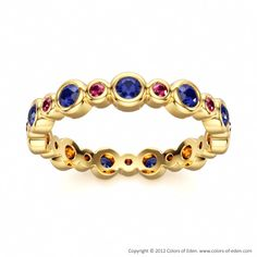 Colorful Eternity Ring ORBIT at Colors of Eden #colors