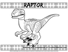 This free LEGO coloring page was based on the blue raptor from the Rex's Rex-treme Offroader set. You can download a copy of this page for your own personal use, and read the set review, at truenorthbricks.com! Shopkins Coloring Pages Free Printable, Shopkins Colouring Pages, Lego Coloring Pages, Preschool Coloring Pages, Coloring Pages For Kids, Blue Jurassic World, Lego Jurassic Park, Kids Wedding Activities