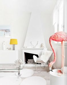 I want to make this flamingo with paper mache!