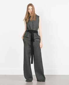 Image 1 of HIGH WAIST TROUSERS from Zara