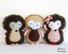 Hedgehog Sewing Pattern PDF Woodland Softie Stuffed Toy  Instant Download. $10.00, via Etsy.