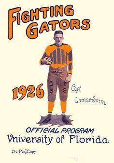 1926 Florida Gators vs Washington & Lee 36 x 48 Framed Canvas Historic Football Poster Vintage Florida, Old Florida, State Of Florida, Best Football Team, Football Program, Florida Gators Football, Gator Football, College Football, Fla Gators