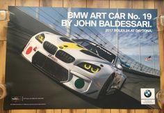 "Rolex 24 at Daytona 2017 No.19 BMW Art Car ""Baldesari"" Poster 24 X 36 IMSA"