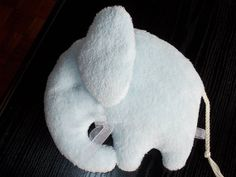 Plush little blue elephant toy  baby shower by MadeByMiculinko, $18.00