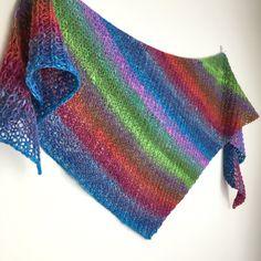 Shawl // shawlette // rainbow // Twyst Shawlette // hand knit by OrangeSmoothieKnits on Etsy