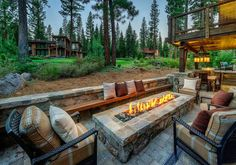 beautiful fireplace for a mountain cabin