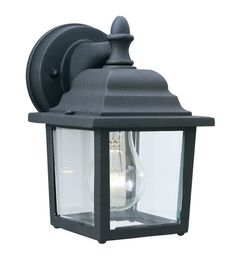 Thomas Lighting SL9422 1 Light Outdoor Wall Sconce from the Covington Collection Matte Black Outdoor Lighting Wall Sconces Outdoor Wall Sconces