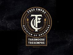 TRES EMPRE designed by iqbal hakim boo. Connect with them on Dribbble; the global community for designers and creative professionals. Coin Design, Badge Design, Label Design, Typography Logo, Logo Branding, Branding Design, Initials Logo, Monogram Logo, Custom Badges