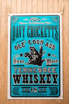 Southern Culture Letterpress Posters | Church of Type, Inc. | Bourbon & Boots