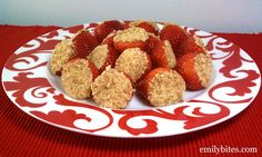 Emily Bites - Weight Watchers Friendly Recipes: Cheesecake Stuffed Strawberries
