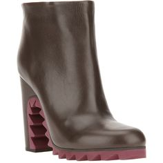 JIL SANDER ridged sole ankle boot