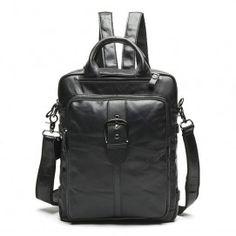 59582fbf9652 Real leather Korean backpack 1st layer cowhide retro bag big capacity  student leisure backpack (BLB10214