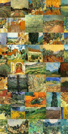 Aesthetic Art, Aesthetic Pictures, Van Gogh Wallpaper, Van Gogh Tattoo, Van Gogh Pinturas, Vincent Willem Van Gogh, Watercolor Paintings For Beginners, Collage Background, Van Gogh Art