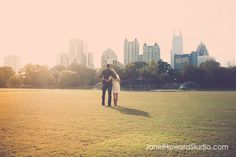 View of Atlanta from Piedmont Park-so many festivals here during the summer, but we just love taking a blanket and laying out in the grass and reading together. Make out sessions like teenagers is still fun too :-)