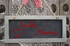 "Karte Sprüche Zitate ""Danke Mama"" von PHOTOGLÜCK auf DaWanda.com"