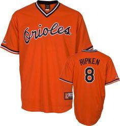 Cal Ripken Jr. Baltimore Orioles Orange Cooperstown Replica Jersey