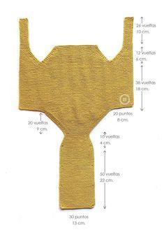 Como hacer un pelele a dos agujas de bebé tejido a punto musgo -Tutorial DIY paso a paso y patrón gratis
