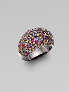 M.C.L by Matthew Campbell Laurenza: Stardust Multi-Colored Sapphire Pave Ring