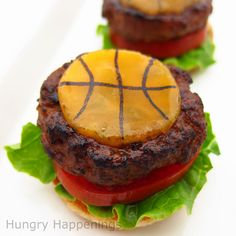 Collection of basketball themed appetizers to serve at March Madness parties...BASKETBALL SEASON !!! :)