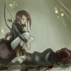 Anime Style of Rue's Death Scene