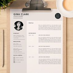 resume template cover letter template for word diy printable 3 pack interior designer modern and creative design - Interior Designer Resume Template