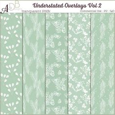 Commercial Use :: Paper Making Tools :: Understated Overlays Vol 02