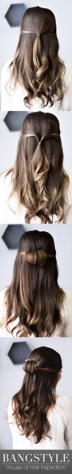 Hair Tutorial Step By Step : Picture Description Whether you're looking for a bridal style, festival hair inspiration or a look for Prom, this half-up Trendy Hairstyles, Braided Hairstyles, Half Up Half Down Hair Tutorial, Homecoming Hairstyles, Super Hair, Prom Hair, Prom Updo, Hair Hacks, Hair Inspiration
