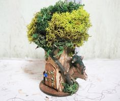 Fairy House 2 d. 'Petite' P-42: indoor outdoor by TheElfinPeddler