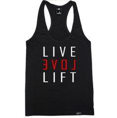 FTD Apparel Women's Live Love Lift Racerback Tank Top - XS Black FTD Apparel http://www.amazon.com/dp/B00JDSDS6I/ref=cm_sw_r_pi_dp_osGbub00EPGKK