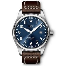 NEW IWC Pilot Steel Automatic 40mm Midnight Blue Dial Mens Watch IW327004